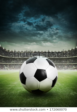 Soccer Ball On Green Pitch Stock photo © AndreyPopov
