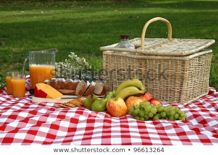 fruits and biscuits in picnic setting Stock photo © epstock