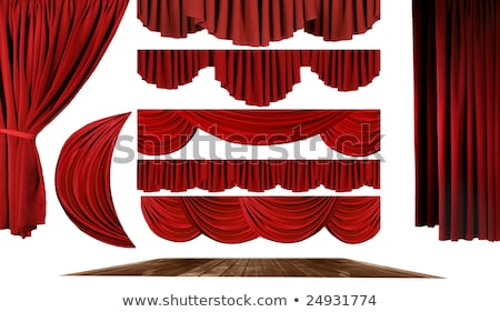 Stage Theater Drape Curtain Element Stock photo © tobkatrina