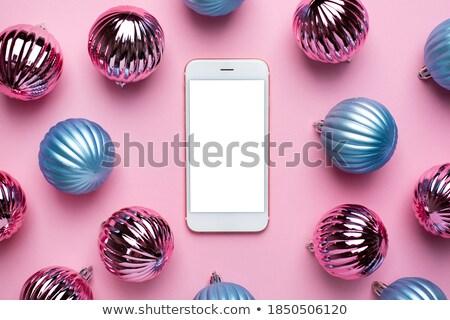telefone · móvel · rosa · caixa · azul · tela · telefone - foto stock © impresja26