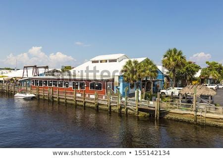 öreg város dokk trópusi Nápoly Florida Stock fotó © meinzahn