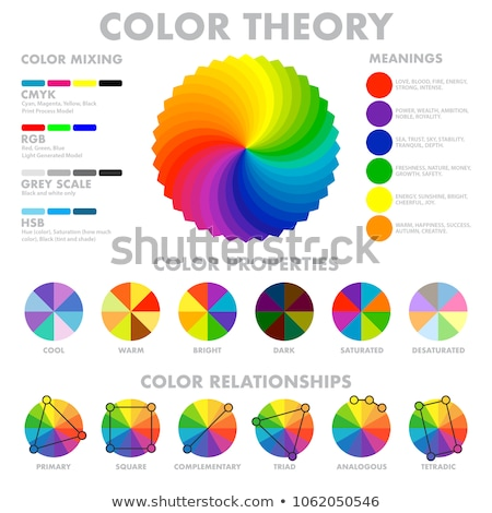 Color wheel with shade of colors,color harmony Stock photo © elenapro