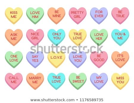 Bonbons Valentin coloré bonbons premier plan rouge Photo stock © Tagore75