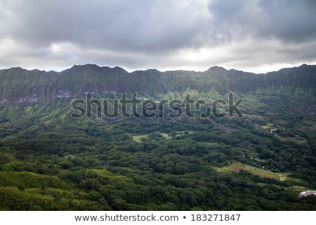 East Oahu and the Koolau Mountain Range Stock photo © LAMeeks