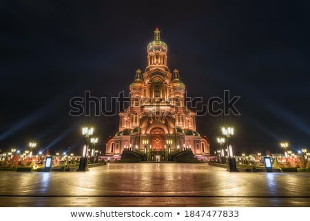 Noche iluminación templo hermosa edad Asia Foto stock © anbuch