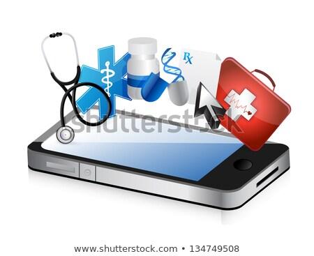 медицинской спасательный трос иллюстрация дизайна красный сердце Сток-фото © alexmillos