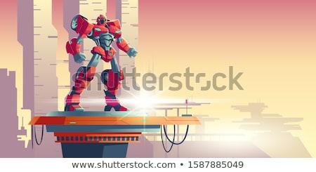 Csata rajz erőszakos idegen korty teremtmények Stock fotó © blamb