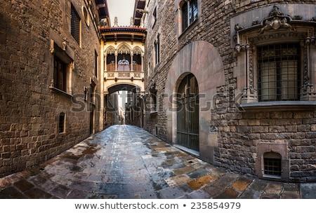Gótico ponte Barcelona cidade arte vintage Foto stock © Nejron