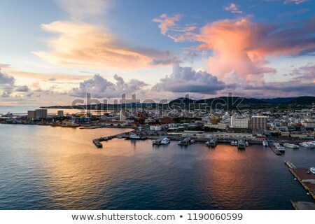 Puesta de sol isla sol paisaje fondo belleza Foto stock © shihina