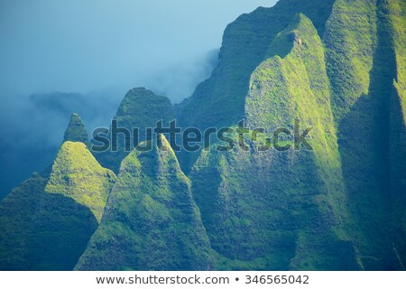 Rugged Na Pali coast from cruise Stock photo © backyardproductions