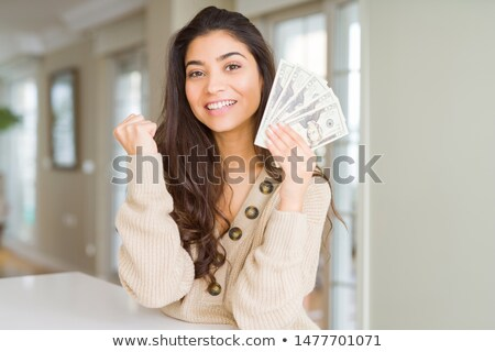 Indian young woman screaming in excitement Stock photo © bmonteny