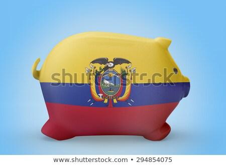 Ricos banco bandera Ecuador ahorro Foto stock © vepar5