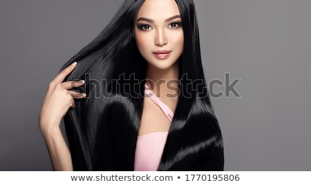 Black beauty with straight hair Stock photo © tommyandone