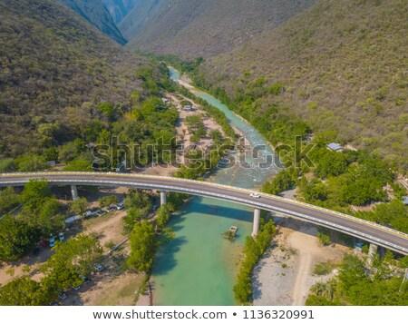 Légifelvétel mezőgazdasági tájkép Mexikóváros Mexikó víz Stock fotó © bmonteny