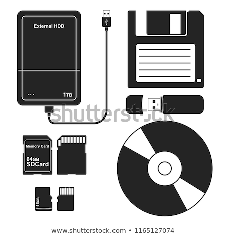 DVD disc and USB flash drive on white background Stock photo © simpson33