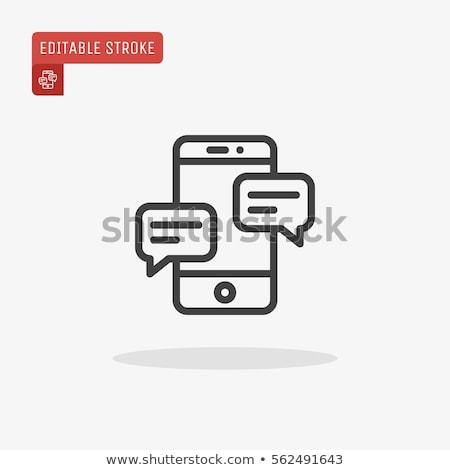 realistisch · smartphone · sjabloon · iconen · plaats · business - stockfoto © mischoko