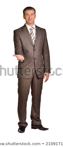 Businessman holds her hands in front of him Stock photo © cherezoff