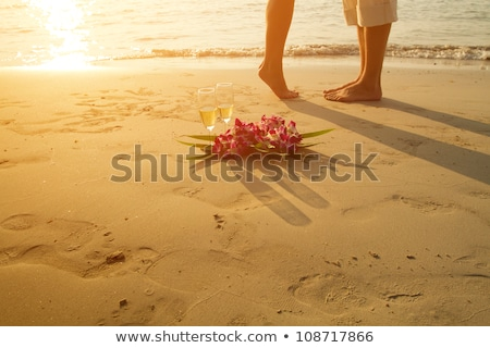 Woman On The Beach Dreaming About Perfect Man  Stock photo © lordalea