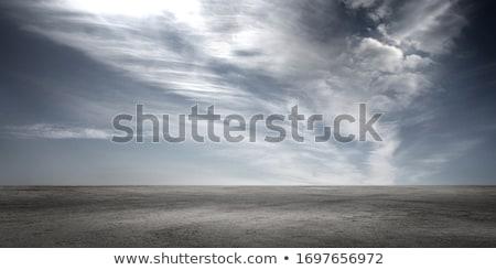concrete ground with cloudy sky Stock photo © elwynn