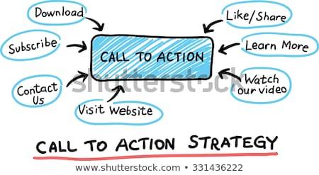 бизнеса запуска кнопки стороны курсор синий Сток-фото © tashatuvango