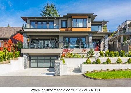 Front of a Modern Home Stock photo © 2tun