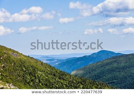 bulutlar · dağ · Quebec · Kanada · gökyüzü · doğa - stok fotoğraf © aetb