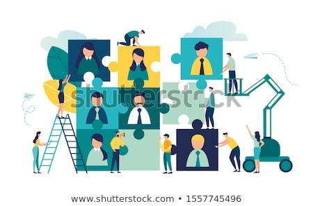 Talent Blauw ontwerp knop lang schaduwen Stockfoto © tashatuvango