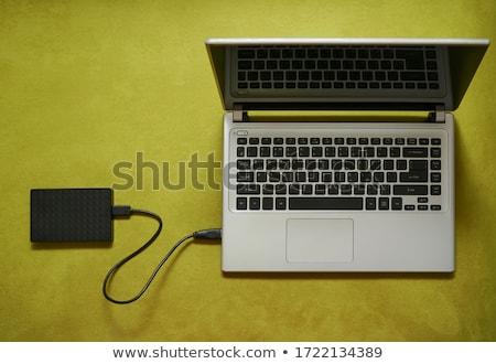 fekete · hdd · fehér · üzlet · technológia · biztonság - stock fotó © petrmalyshev