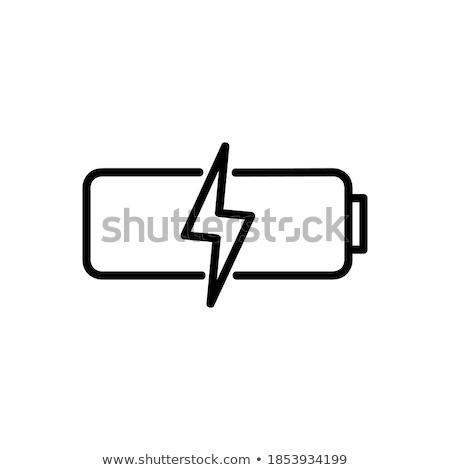 polarity battery simple icon on white background stock photo © tkacchuk