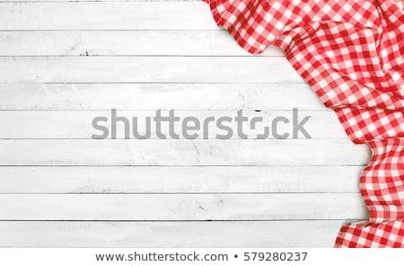 Tablecloth textile on wooden background Stock photo © stevanovicigor
