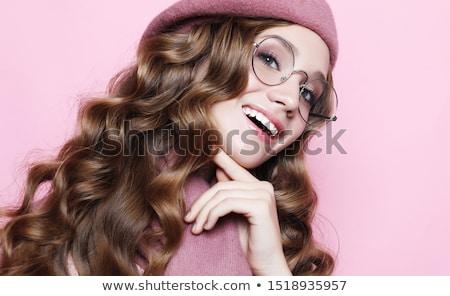 Bonitinho menina cachecol belo sorrir Foto stock © aza