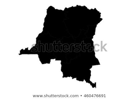 Harita Kongo farklı semboller beyaz Afrika Stok fotoğraf © mayboro1964
