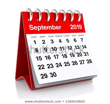 September Calendar Page Stock photo © stevanovicigor