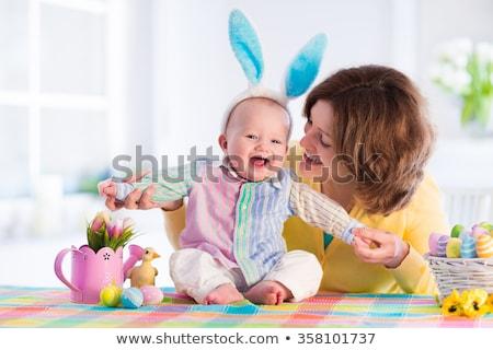 baby girl in easter costume stock photo © nyul