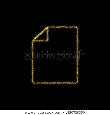 Pdf документа вектора икона кнопки Сток-фото © rizwanali3d