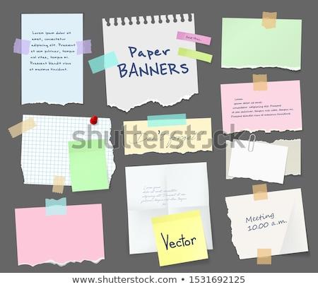 Memorando rosa papel estreito Foto stock © nelsonart