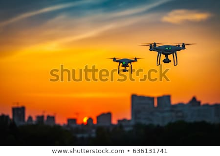 two drone to fly in the city stock photo © smuki
