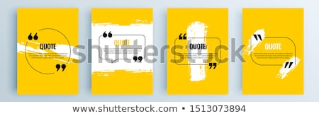 inspirational motivating quote in speech bubbles stock photo © orson