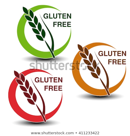 brown vector wheat free signs isolated on white background stock photo © slunicko