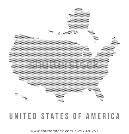 Map of USA Connecticut State with Dot Pattern Stock photo © Istanbul2009