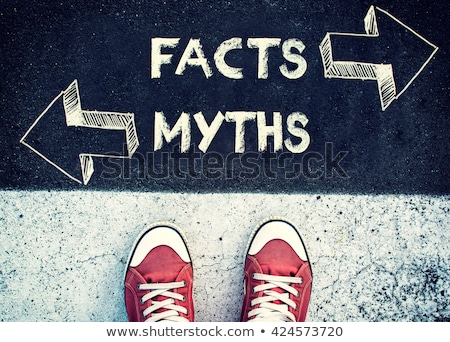 Myths Facts Arrows Concept Stock photo © ivelin