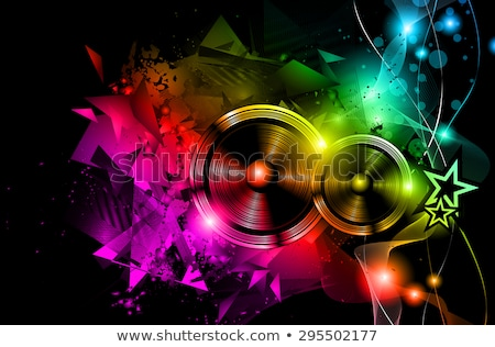 disco night club flyer layout with dj shape stock photo © davidarts
