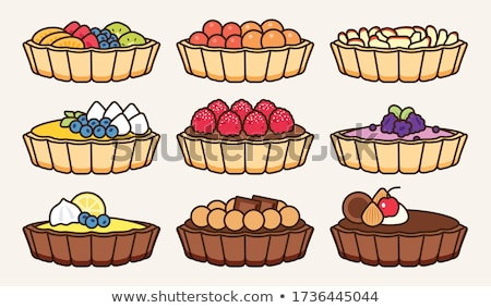 Little tarts with fresh fruits Stock photo © BarbaraNeveu