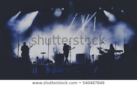 realizar · banda · jugando · etapa · masculina - foto stock © stevanovicigor