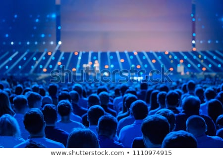 publiek · conferentie · hal · business · presentatie · televisie - stockfoto © kasto