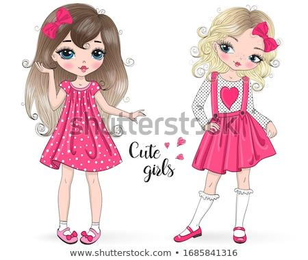 two pretty cute girls stock photo © neonshot