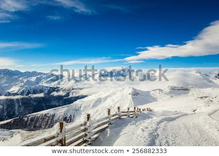 Ski Resort alpes vue montagne glace Photo stock © kasjato