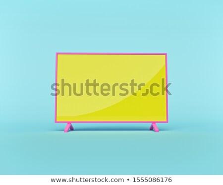 Stok fotoğraf: 3D · televizyon · ekran · bilgisayar · ekranı · yalıtılmış · siyah