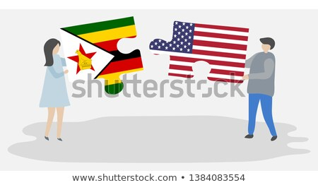 USA and Zimbabwe Flags in puzzle  Stock photo © Istanbul2009