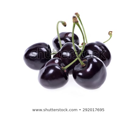 cherries in a black bowl stock photo © markos
